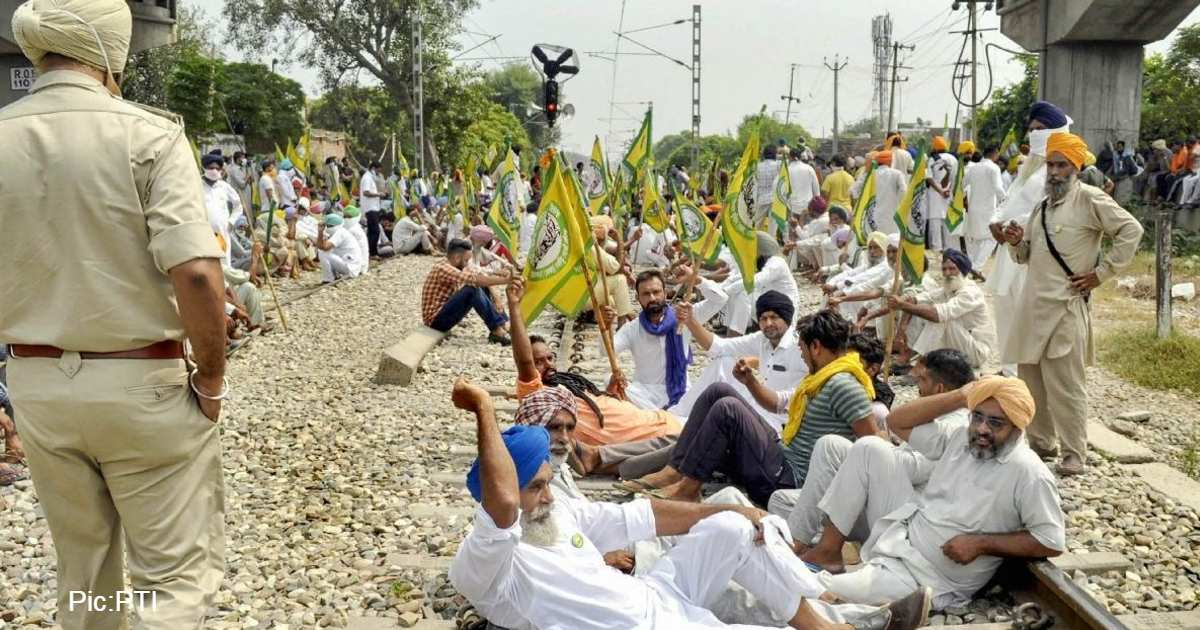 protest of farmers against Farmers Bills