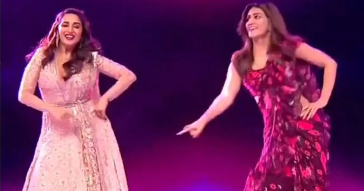 Madhuri Dixit And Kriti Sanon