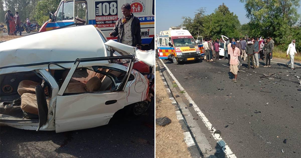 Car accident near Malpur