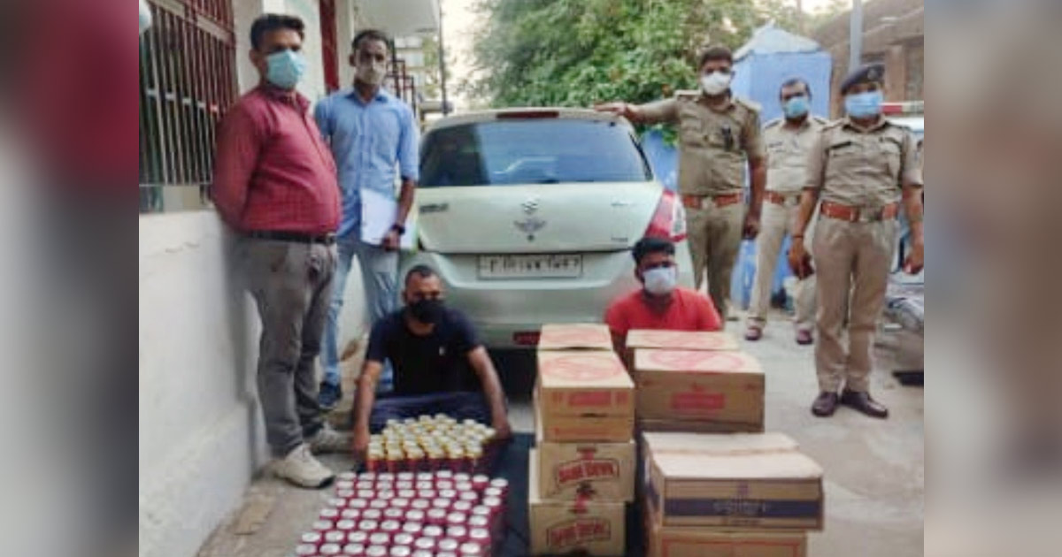 Aravalli police, bootleggers