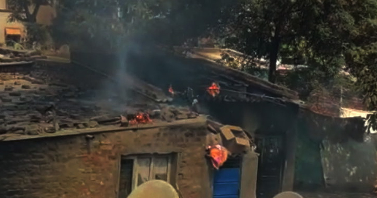 Fire in slum house