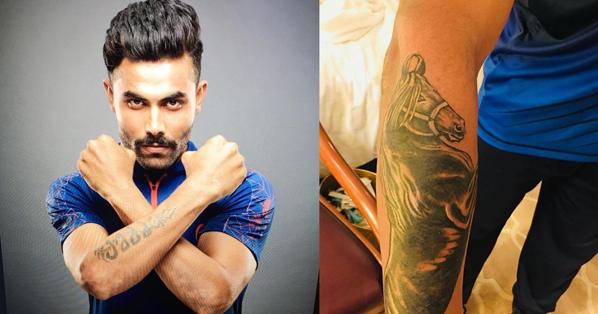 Image result for Ravindra Jadeja tattoo
