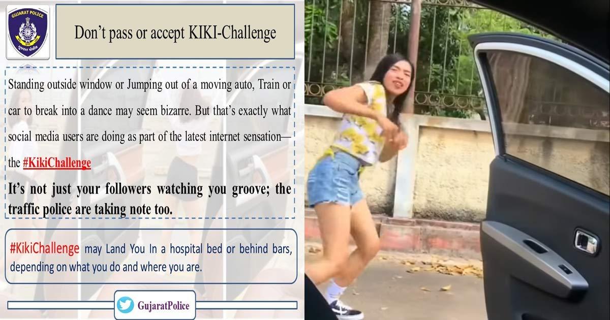 Kiki challenge GujaratKiki challenge Gujarat police