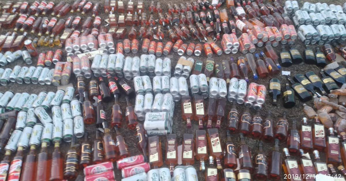 Police destroyed liquorPolice destroyed liquor3