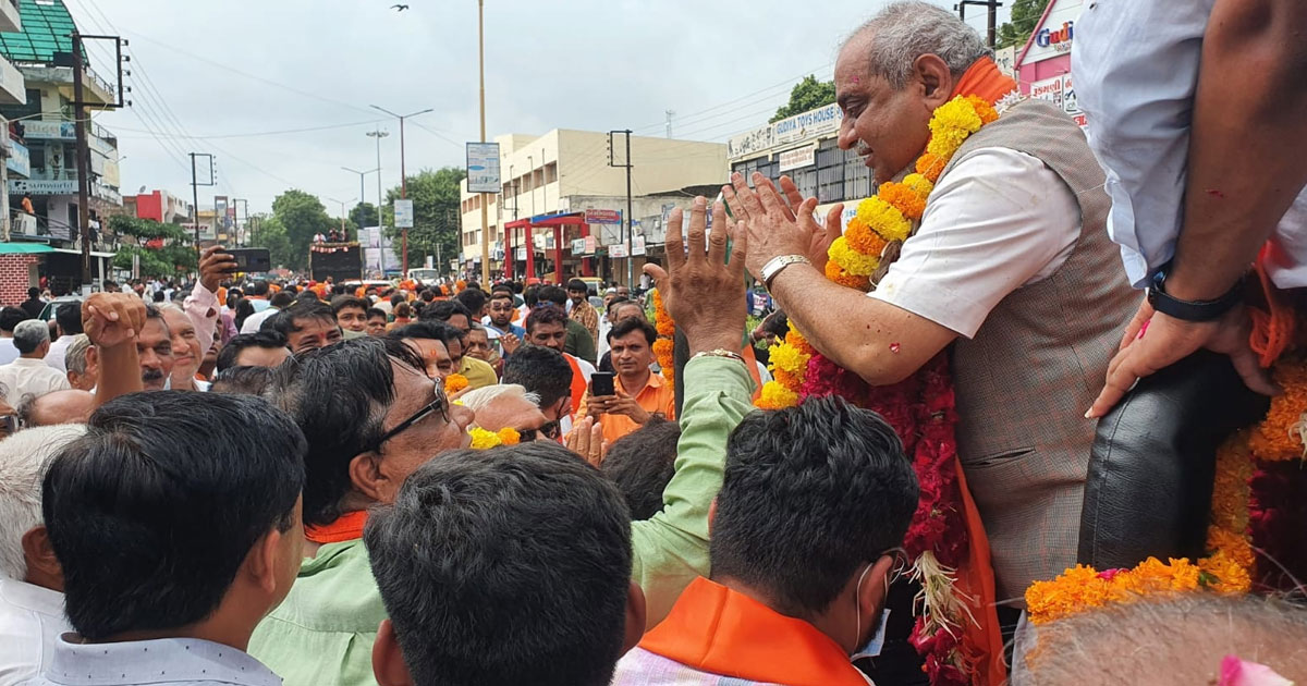 Nitin Patel at Kadi