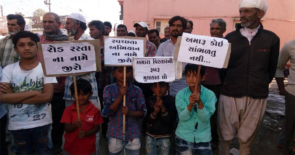 Locals protest